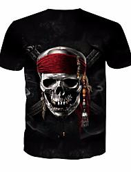 cheap -Men's T-shirt - Skull Round Neck