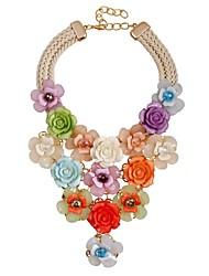 Недорогие -Жен. Y Ожерелье - Цветы Классика, Мода, Крупногабаритные Цвет радуги 49 cm Ожерелье Назначение Официальные, Для вечеринок