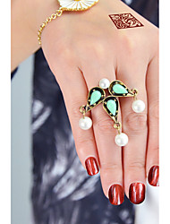 cheap -Imitation Pearl / Alloy Drop Statement Ring - Circle Basic / Fashion Green / Pink Ring For Daily / Date
