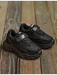 baratos -Para Meninas Para Meninos sapatos Couro Ecológico Primavera Conforto Tênis para Casual Branco Preto Vermelho