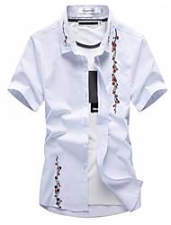 billige -Herre - Blomstret Basale Skjorte