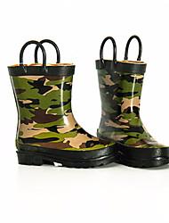 baratos -Para Meninos sapatos Borracha Outono Inverno Botas de Chuva Botas Botas Cano Médio para Casual Ao ar livre Verde Tropa