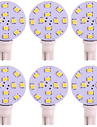 cheap -6pcs T10 Car Light Bulbs 2W SMD 2835 125lm 12 LED Interior Lights For universal / General Motors Universal Universal