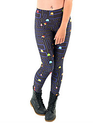 cheap -Women's Daily Basic Legging - Rainbow Mid Waist