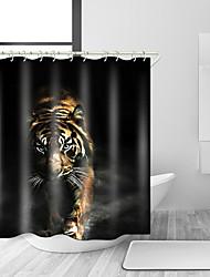 abordables -Rideaux de douche et anneaux Moderne Polyester Animal Fabrication à la machine Imperméable Salle de Bain
