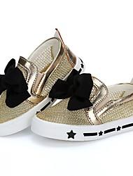 abordables -Fille Chaussures Filet Eté Confort / Premières Chaussures Ballerines pour Or / Noir / Argent