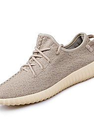cheap -Women's Shoes Knit Tulle Summer Fall Comfort Sneakers Running Shoes Flat Heel Round Toe for Athletic Black Gray Khaki