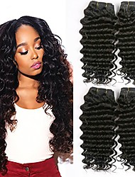 cheap -Brazilian Hair Wavy Human Hair Extensions Human Hair Weaves Extention / Hot Sale Natural Black All
