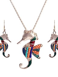 cheap -Women's Colorful Jewelry Set 1 Necklace / Earrings - Colorful / Ethnic Rainbow Jewelry Set For Birthday / Club