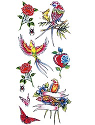 cheap -Waterproof / Tattoo Sticker Body / Arm / Shoulder Temporary Tattoos 1 pcs Animal Series / Flower Series Body Arts
