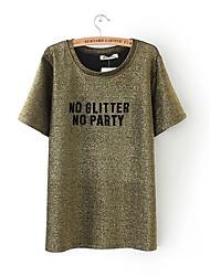 abordables -Mujer Bonito Activo Camiseta Un Color