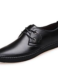 abordables -Homme Chaussures Cuir Printemps Automne Chaussures formelles Oxfords pour Décontracté Bureau et carrière Noir Marron
