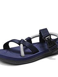 お買い得  -男性用 靴 繊維 夏 秋 コンフォートシューズ サンダル のために カジュアル アウトドア ブラック Brown ブルー