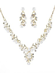 cheap -Women's Jewelry Set - Leaf European Include Gold / Silver For Wedding / Ceremony / Earrings