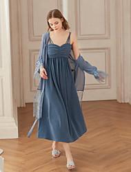 levne -Dámské Vintage A Line Šaty - Jednobarevné Midi