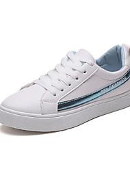 povoljno -Žene Cipele PU Proljeće Jesen Udobne cipele Sneakers Ravna potpetica Okrugli Toe za Kauzalni Pink Crvena Plava