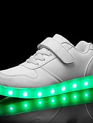 billiga -Pojkar Skor PU Höst vinter Lysande skor Sneakers LED för Vit / Svart / Röd