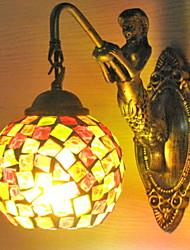 baratos -Antirreflexo Clássica Luminárias de parede Quarto Metal Luz de parede 220-240V 40W