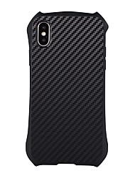 Недорогие -Кейс для Назначение Apple iPhone X iPhone 8 Plus Защита от удара броня Кейс на заднюю панель броня Твердый ПК для iPhone X iPhone 8 Pluss