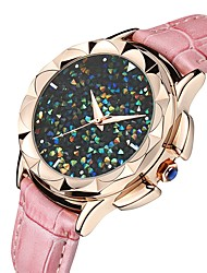 cheap -Women's Wrist Watch Water Resistant / Water Proof PU Band Casual Black / White / Pink