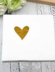 Недорогие -Чистая бумага Свадебные Салфетки - 5pcs Салфетки для ужина Свадьба День Святого Валентина Классика