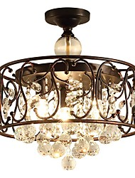 cheap -QIHengZhaoMing 3-Light Chandelier Ambient Light - Crystal, 110-120V / 220-240V, Warm White, Bulb Included / 10-15㎡