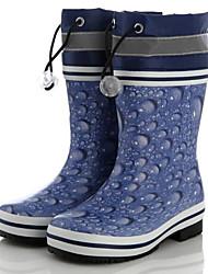 baratos -Para Meninos sapatos Borracha Outono Inverno Botas de Chuva Botas Botas Cano Médio para Casual Ao ar livre Azul