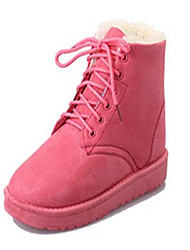 cheap -Women's Shoes PU Winter Snow Boots Comfort Boots Round Toe Booties / Ankle Boots for Casual Black Gray Pink