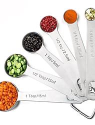 baratos -6pcs Utensílios de cozinha Aço Inoxidável Gadget de Cozinha Criativa Ferramentas de Medição Para utensílios de cozinha