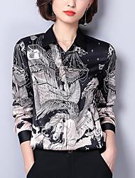 cheap -Women's Street chic Shirt-Floral