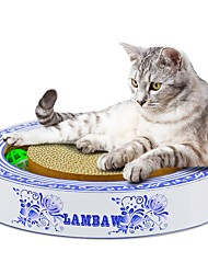 cheap -Toys Beds Scratch Pad Simple Pet Friendly Scratch Pad Paraben Free Formaldehyde Free Catnip Cardboard Paper For Cats
