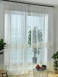 povoljno -Sheer Zavjese Shades Living Room Geometrijski oblici Suvremeno Pamuk / poliester Vez