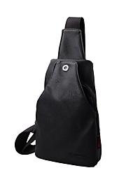 baratos -Unisexo Bolsas Sling sacos de ombro Botões para Casual Preto / Vermelho / Cinzento