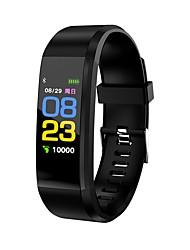 abordables -Montre Smart Watch Bluetooth Calories brulées Pédomètres Capteur tactile Contrôle de l'APP Traqueur de pouls Podomètre Moniteur