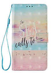 cheap -Case For Huawei Mate 10 lite Mate 10 pro Card Holder Wallet with Stand Flip Pattern Full Body Cases Word / Phrase Hard PU Leather for