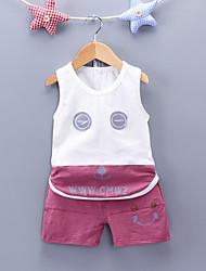Недорогие -Мальчики С принтом Без рукавов Набор одежды