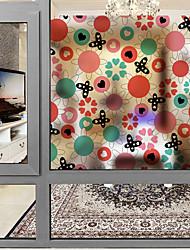 Недорогие -Оконная пленка и наклейки Украшение С цветами Современный Цветочный принт ПВХ Стикер на окна Матовая