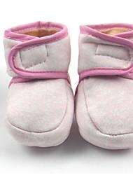 Недорогие -Дети обувь Ткань Зима Обувь для малышей Ботинки для Повседневные Желтый Красный Синий
