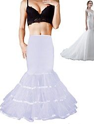 cheap -Wedding Formal Evening Slips Polyester Spandex Chinlon Organza Taffeta Tulle Floor-length Tea-Length Shaping Slips Voiles & Sheers with