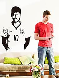 Недорогие -Декоративные наклейки на стены - Простые наклейки Люди стены стикеры Известные картины Футбол Гостиная Детская