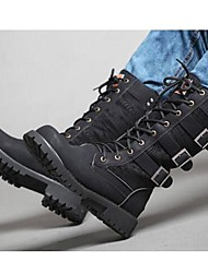 cheap -Men's Shoes Synthetic Winter Fall Combat Boots Bootie Motorcycle Boots Riding Boots Cowboy / Western Boots Comfort Boots for Casual