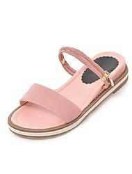 abordables -Femme Chaussures Cuir Nubuck Eté Confort Ballerines Talon Plat Bout ouvert Paillette Brillante Beige / Rouge / Rose