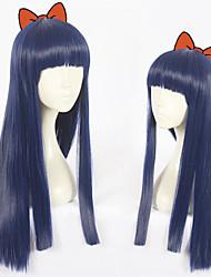 economico -Parrucche sintetiche Liscio Taglio scalato Capelli sintetici Attaccatura dei capelli naturale Blu Parrucca Per donna Lunghezza media Senza tappo