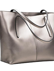 cheap -Women's Bags Genuine Leather Shoulder Bag Hollow-out Black / Silver / Wine