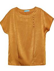 economico -T-shirt Per donna Essenziale Con stampe, Tinta unita / Seta