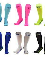 Недорогие -Велоспорт Компрессионные носки Муж. Велосипедный спорт / Велоспорт Велоспорт / Фитнес, бег и йога / Воздухопроницаемость 1 пара Однотонный Эластан / Эластичность