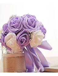 abordables -Fleurs de mariage Bouquets Ruban en gros-grain Mariage Mousse 11-20 cm