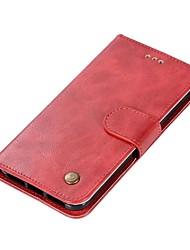 Недорогие -Кейс для Назначение Xiaomi Redmi 4X / Redmi 4 Кошелек / Бумажник для карт / Флип Чехол Однотонный Твердый Кожа PU для Redmi Note 5A / Xiaomi Redmi Note 4X / Xiaomi Redmi Note 4 / Xiaomi Redmi 4a