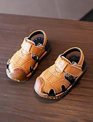 povoljno -Djevojčice Dječaci Cipele Koža Ljeto Cipele za bebe Sandale za Kauzalni Obala Crn Bijela
