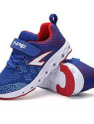 baratos -Para Meninos sapatos Tule Primavera Outono Conforto Tênis Caminhada para Casual Preto Azul Escuro Azul Real